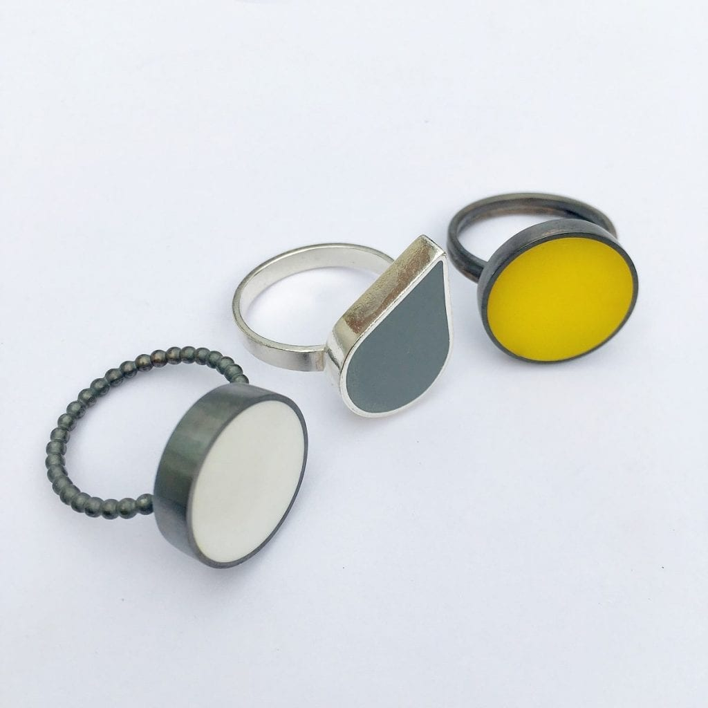 Claire Lowe Jewellery - contemporary resin and silver jewellery designs, Devon UK