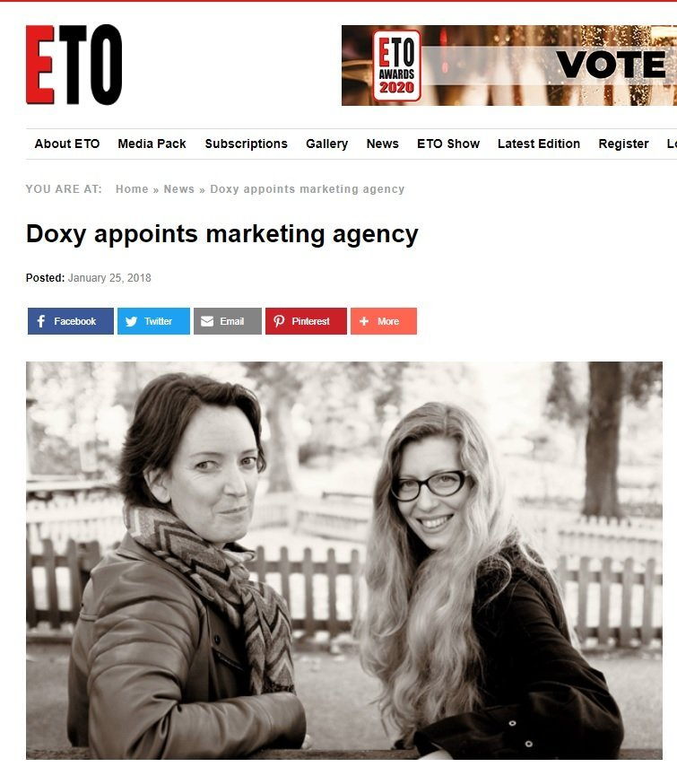 doxy appoints imp ideas marketing agency