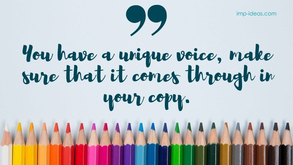 freelance copywriter captures the unique voice of your business